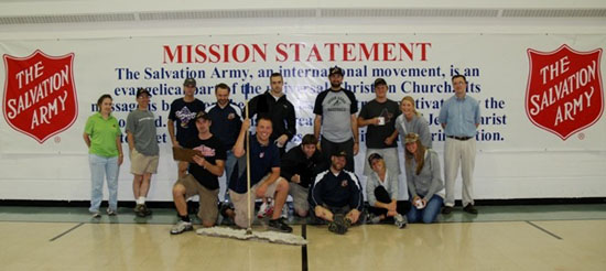 Akron Aeros Volunteer at Salvation Army in More Ways Than One