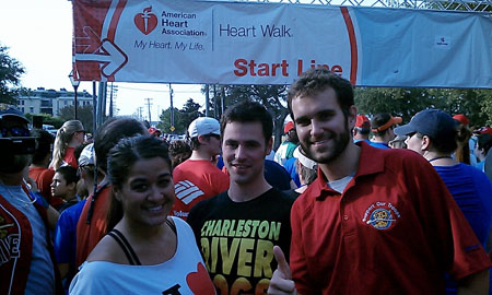 Sales Representatives Annie Fuller and David Cullins and Director of Media Relations at the starting line of the 2012 Heart Walk