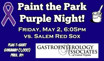 City Stadium Will See Purple on May 2nd!