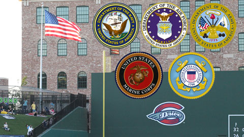 Retired and active military personnel will be recognized.