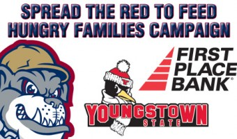 Mahoning Valley Scrappers join the Spread the Red to Feed Hungry Families Campaign
