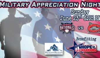 P-Nats To Host Military Appreciation Night To Benefit Hope For The Warriors
