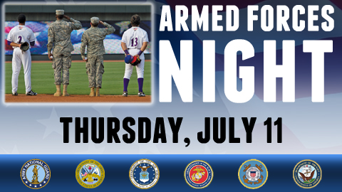 The Dash will honor our military with a special Armed Forces Night on June 11 at BB&T Ballpark.