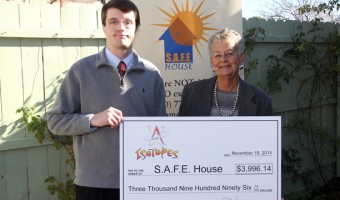 Isotopes Donate $3,996.14 to S.A.F.E. House