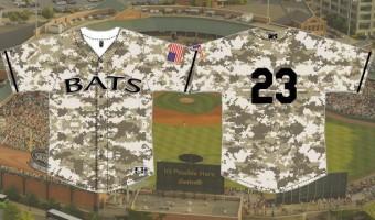 Bats to wear camo jerseys to benefit PVA