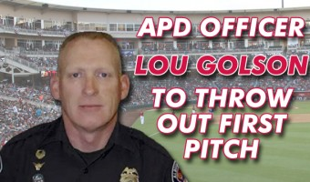 APD Officer Golson To Throw Out First Pitch