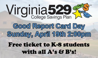 Virginia529 Good Report Card Day is April 19th