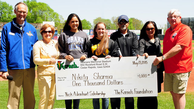 Niki Sharma is the winner of the 2015 Nick Adenhart Memorial Scholarship, presented by the Kernels and The Kernels Foundation. (Ed Kempf / Impact Photography)