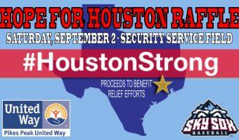 Sky Sox Announce 'Hope for Houston' Raffle