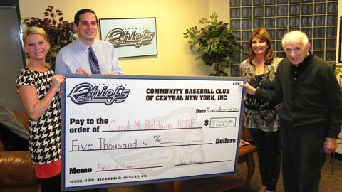 Syracuse Chiefs Donation 11-13-12