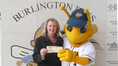 burlington bees donation 2012