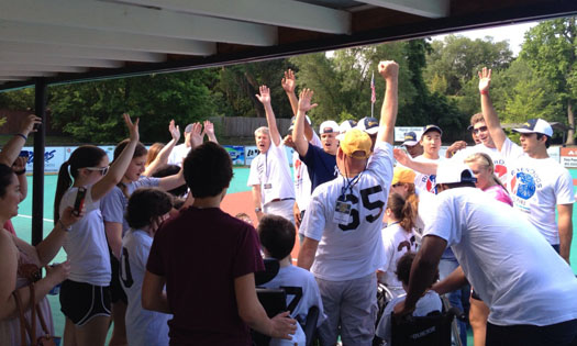 The Charleston RiverDogs join the Summerville Miracle League RiverDogs for a team cheer!
