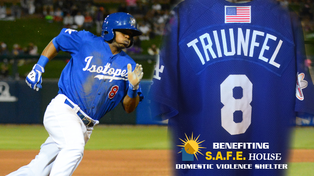 "Weekend ""Dodger Blue"" Jerseys To Benefit S.A.F.E. House Domestic Violence Shelter."