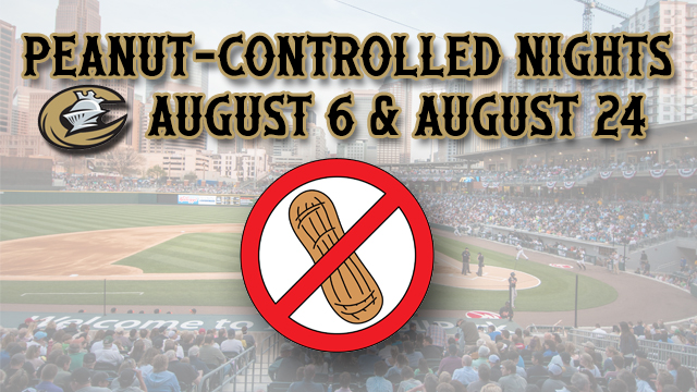 For both games, the Knights will welcome all fans with peanut allergies in Power Alley sections 124-126 for a great night of baseball.