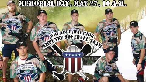 The Wounded Warrior Amputee Softball Team is coming to CMC-NorthEast Stadium Memorial Day 2013. (woundedwarrioramputeesoftballteam.org/)