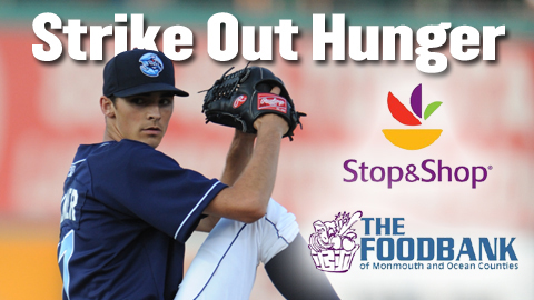 Stop & Shop will make a donation to the Food Bank of Monmouth and Ocean Counties for every BlueClaws strikeout.