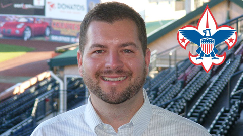 Lexington Legends Box Office Manager recently was presented the Boy Scouts of America North Star Award from the Blue Grass Council BSA.