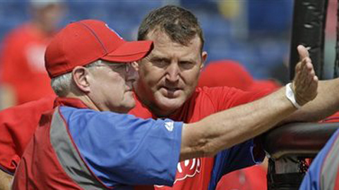 Current Phillies hitting coach is bringing his ALS auction to Reading on Saturday. (Associated Press)