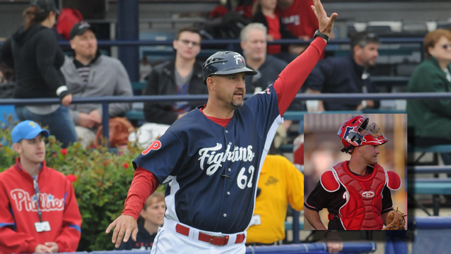 Fightins manager Dusty Wathan will be hosting a catching clinic on March 30th from 5:00 to 6:15 p.m. for catchers ages eight & up. (Ralph Trout)