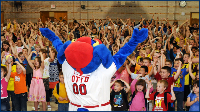 Bemiss and Sheridan Elementary will get a visit from OTTO the Mascot.