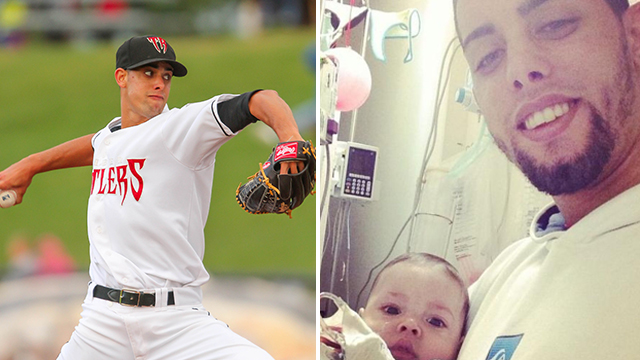 Jorge Lopez pitched for the Timber Rattlers in 2013. His son is fighting a serious is fighting serious medical problems and the proceeds from the Timber Rattlers Throwback Jersey Auction will go to help.