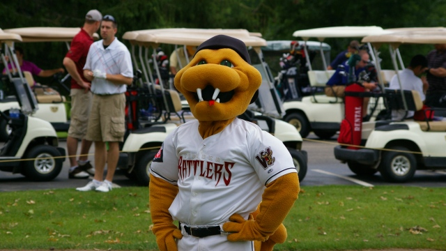 Fang T. Rattler is ready for the 2014 Charity Golf Outing for the Miracle League of the Fox Valley at Shamrock Heights on June 3.