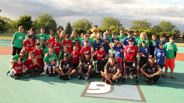 Members of the Wisconsin Timber Rattlers joined The Miracle League of the Fox Valley on July 14, 2014. (Ann Mollica/Wisconsin Timber Rattlers)