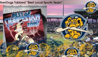 "RiverDogs Named ""Best Local Sports Team"" AGAIN by Charleston City Paper"