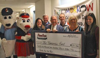 PawSox Foundation Presents Tomorrow Fund with Donation of $21,156